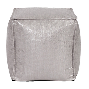 Square Pouf Glam Pewter
