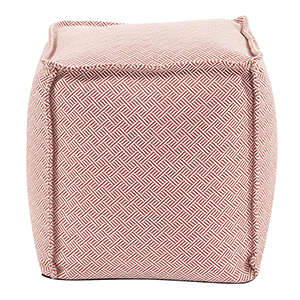Square Pouf Beach Club Rhubarb
