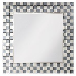 Michael Clear Checkerboard Square Mirror