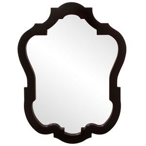Asbury Glossy Black Oval Mirror