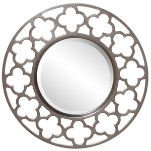 Gaelic Nickel Round Mirror