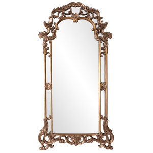 Imperial Mottled Bronze and Antique Silver Rectangle Mirror