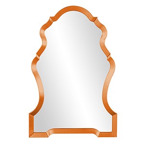 Nadia Glossy Orange Mirror