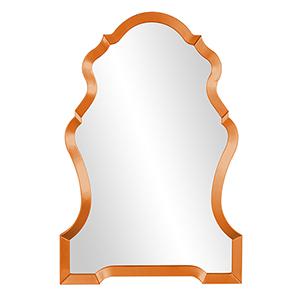 Nadia Glossy Orange Mirror