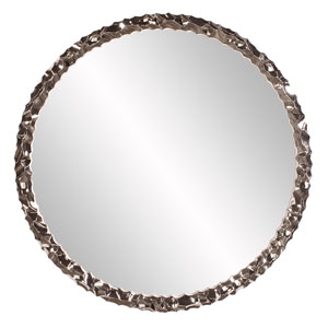Memphis Round Nickel Mirror