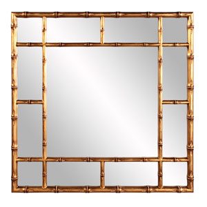 Country Gold Bamboo Mirror