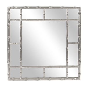 Bamboo Glossy Nickel Mirror