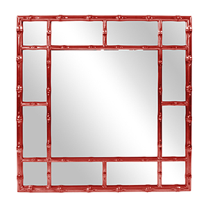 Bamboo Glossy Red Mirror