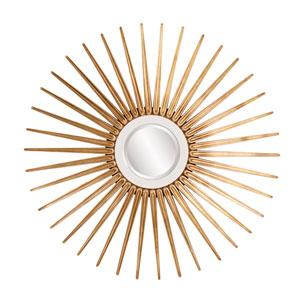 Solar Round Gold Mirror