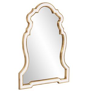 Cleopatra White Keyhole Mirror