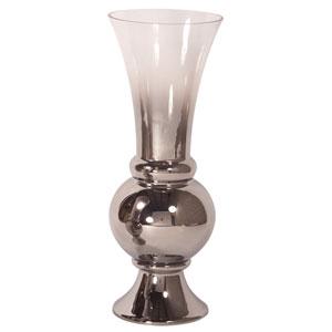 Smokey Glass Fluted Large Vase