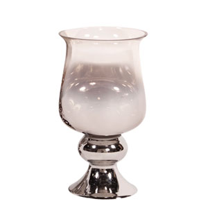 Smokey Glass Hurricane Small Vase