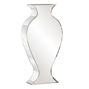 Mirrored 28-Inch Tall Vase