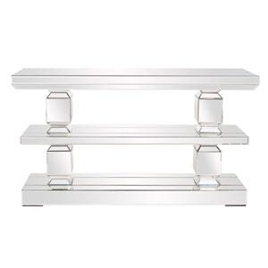 Athens Wood Three Shelf Console Table
