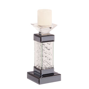 Nina Glass Crystal Mirror Candle Holder