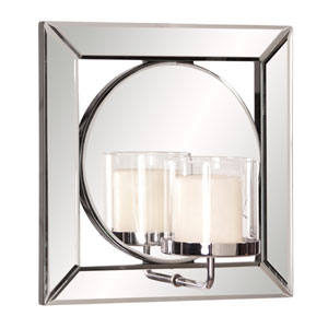 Lula Square Mirror w/ Candle Holder