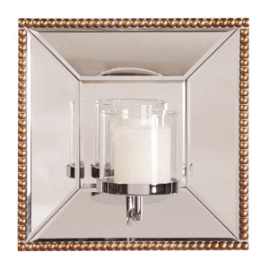 Opal Antique Gold Mirror with Candle Holder