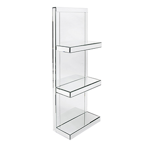 Mirrored Shelf with 3 shelves