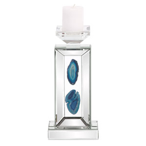 Turquoise Geode Candle Holder Small