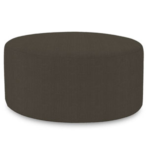 Sterling Charcoal Universal Round Ottoman Cover