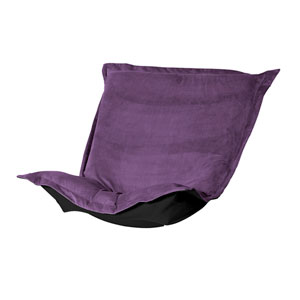 Bella Eggplant Puff Chair Cover