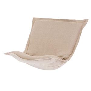 Prairie Linen Natural Puff Chair Cover