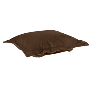 Bella Chocolate Puff Ottoman Cover