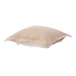 Prairie Linen Natural Puff Ottoman Cover