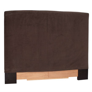 Bella Chocolate Twin Slipcovered Headboard
