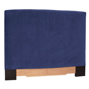 Blue Twin Slipcovered Headboard