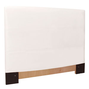 Avanti White Full Queen Headboard Slipcover