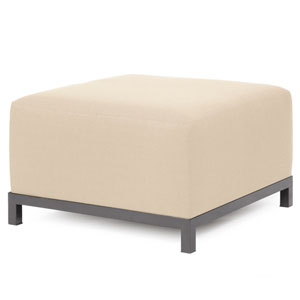 Axis Sterling Sand Ottoman Chair with Titanium Frame