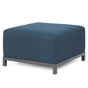 Axis Sterling Indigo Ottoman Chair with Titanium Frame
