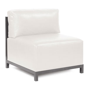 Axis Avanti White Accent Chair with Titanium Frame
