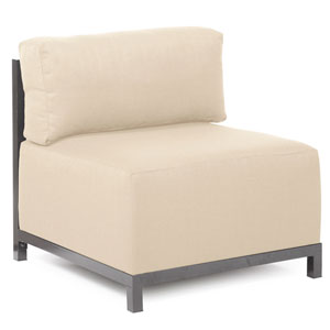 Axis Sterling Sand Accent Chair with Titanium Frame