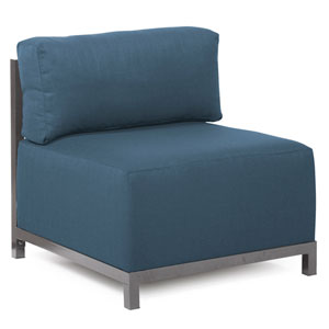 Axis Sterling Indigo Accent Chair with Titanium Frame