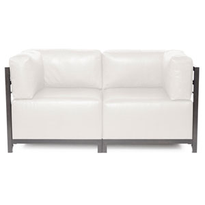 Axis Avanti White 2-Piece Sectional Sofa with Titanium Frame