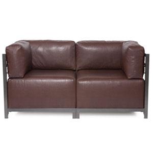 Axis Avanti Pecan 2-Piece Sectional Sofa with Titanium Frame