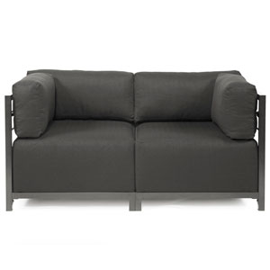 Axis Sterling Charcoal Sectional Sofa with Titanium Frame