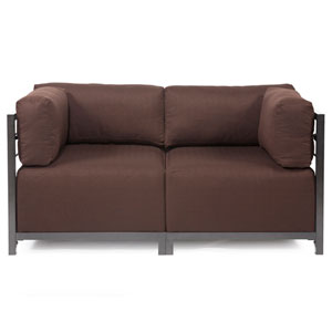 Axis Sterling Chocolate Sectional Sofa with Titanium Frame