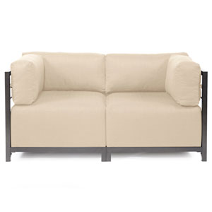 Axis Sterling Sand Sectional Sofa with Titanium Frame