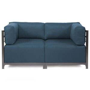 Axis Sterling Indigo Sectional Sofa with Titanium Frame