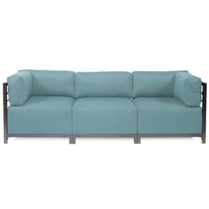 Axis Light Blue 3-Piece Sectional Sofa with Titanium Frame