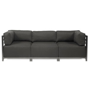 Axis Charcoal Grey 3-Piece Sectional Sofa with Titanium Frame