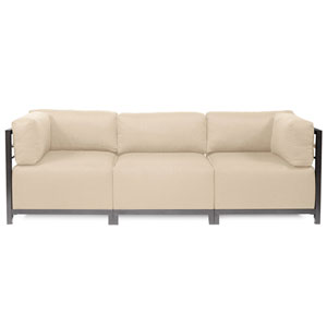 Axis Sand 3-Piece Sectional Sofa with Titanium Frame
