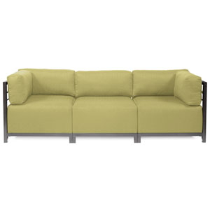 Axis Willow Green 3-Piece Sectional Sofa with Titanium Frame