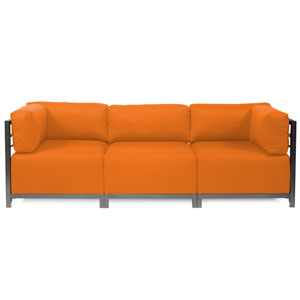 Axis Vivid Orange 3-Piece Sectional Sofa with Titanium Frame
