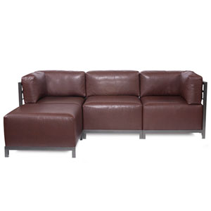 Axis Avanti Pecan 4-Piece Sectional Sofa with Titanium Frame