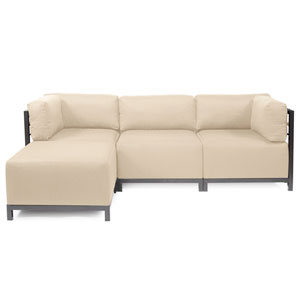 Axis Sand 4-Piece Sectional Sofa with Titanium Frame