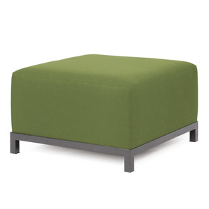 Axis Seascape Moss Ottoman with Titanium Frame